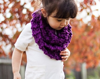 Children's Knitted Infinity Scarf