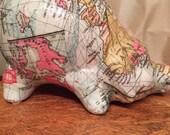 Antique World Map Medium piggy bank Baby Magellan