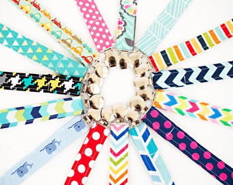 Pacifier Clip, YOU PICK 1 (Choose from over 40 fabrics) Ships FREE with purchase of another item.