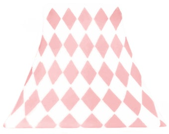 Soft Pink Harlequin - SLIP COVERS for lampshades