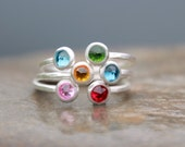 dual birthstone ring. two stone ring. gemstone couples ring. gold. double gemstone ring - mothers ring. double birthstone ring.
