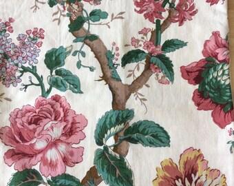 SALE Orig. 76.00 British Linen Botanical Garden Pillow Cover (1322)