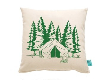 Camping Throw Pillow-Deocrative Pillow-Outdoorsy