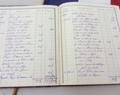 Vintage French 1920 Repertoire/ accounts ledger / journal / diary for wine, tobaco and wheat