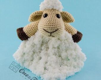 Chloe the Sheep Lovey / Security Blanket - PDF Crochet Pattern - Instant Download - Blankie Baby Blanket