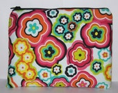 "Pipe Pouch, Hippie Flower Bag, Cute Purse, Padded Zipper Bag, 420, Stoner, Hippy, Smoke, Padded Pipe Pouch, Gadget Bag, 7.5"" x 6"" - X LARGE"