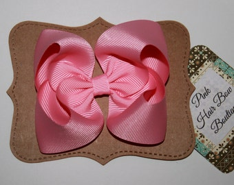 Pink hair bow , pink hairbow , pink hairclip , pink hair bows , pink bow , boutique hair bow , spring hair bow