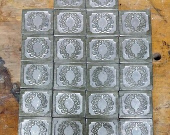 Pewter plaques with Laurel wreath