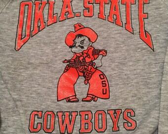 Vintage Oklahoma State Cowboys Crew Neck Sweatshirt