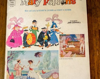 Vintage Music Book, Songs from Walt Disney's Mary Poppins