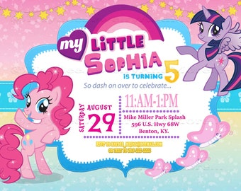My Little Pony Printable Birthday Party Invitation-Pony Theame