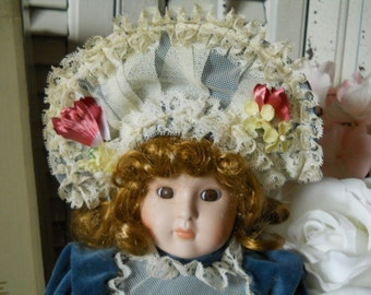 Vintage Seymour Mann Connoissuer Porcelain Collector Doll Hand Painted Porcelain Hand Sewn Costume Heirloom  Certified 1988 Limited Edition