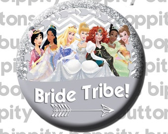 "Disney Princess Bride Tribe 3"" Button"