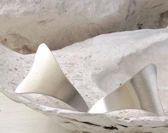 Sterling silver organic stud earrings, Sterling Silver Post Earrings