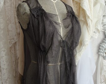 Vintage sheer jacket, lingerie romantic french couture chic gypsy chic