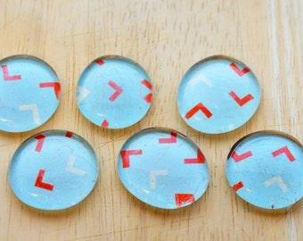 Arrow Glass Magnet // Set of 6 // Kitchen Magnet // Fridge Magnet // Office Decoration // Classroom Decoration // Magnet Board