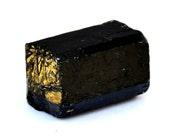 Black Tourmaline Rough Stone (21mm x 14mm x 11mm) - Raw Schorl