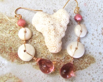 Summer Rose Shell Earrings
