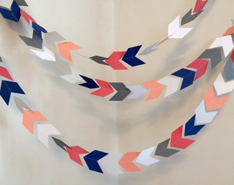 Tribal Baby shower Decorations- Coral Arrow banner - Bride tribe decor- Camping birthday garland - Pow wow - your color choices