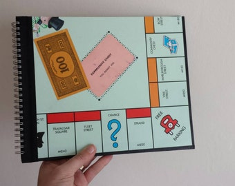 Monopoly Notebook handmade from a Monopoly Game Board
