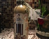 Cafe Latte Altered Wine Bottle, Vase, Fragrance Diffuser, Kitchen, Home Decor