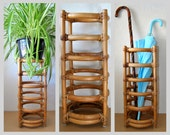 Vintage Rattan Umbrella Stand | Wood Furniture | End Table | Planter | Rack | Holder | Box | Japanese | Chinese | Asian| Home Accent | Table
