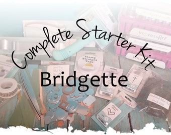 Bridgette: Complete Starter Kit for Jewelry Making, Hand Stamped Making DIY Stamp Kit, Metal Alphabet Set & Hammer, Hole Punch, Block