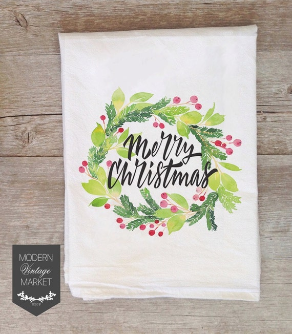 Kitchen Towels Xmas: Christmas Towels Tea Towels Kitchen Towels Flour Sack