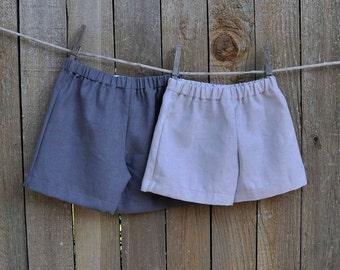 Linen shorts, white, khaki, grey linen, Boys shorts, many colors...3m,6m,9m,12m,18m,2t,3t,4t,5,6,7,8