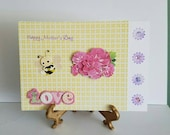 Handmade Mother's Day Card For Daughter, Keepsake card, para hija en Ingles, For Daughter on Mother's Day