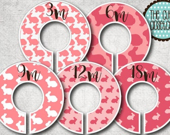 Baby Closet Dividers  - Pink Bunny