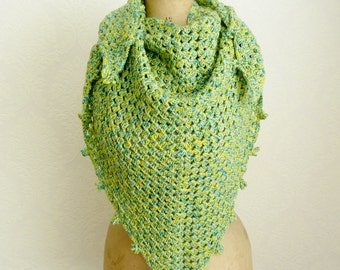 Triangular shawl crochet scarf triangle wrap
