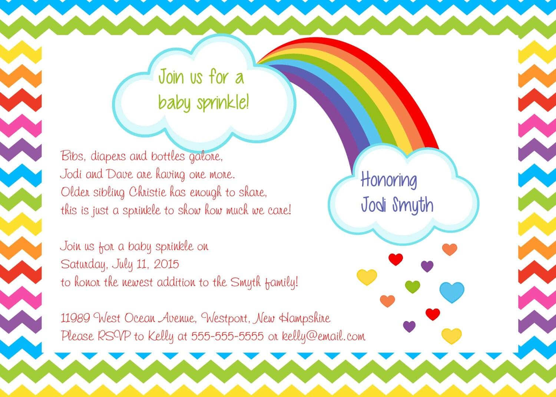 Printable baby sprinkle invitation / baby sprinkle shower invitation ...