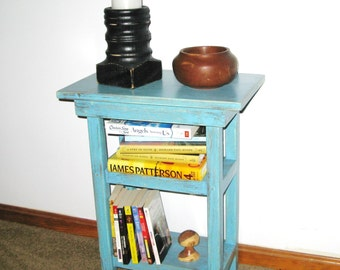 RECLAIMED PLANT STAND, Occassional Table, Cottage Chic Table, Plant Stand, Side Table, Folk Art, Primitive Table, Tramp Art, Wood Table