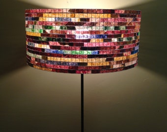 Floor Lamp Unique Colorful Lamp Lampshade Lampada Coffee Filter Art