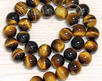 20pcs-Shiny-6mm Golden  Tiger's eye gemstone round beads