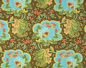 11236 Amy Butler  Belle collection Gothic Rose in blue  cotton Fabric - 1 yard
