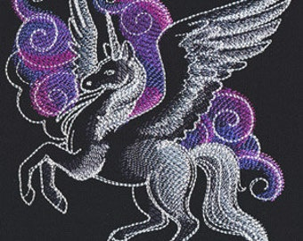 Beautiful Unicorn Embroidered Flour Sack Hand/Dish Towel