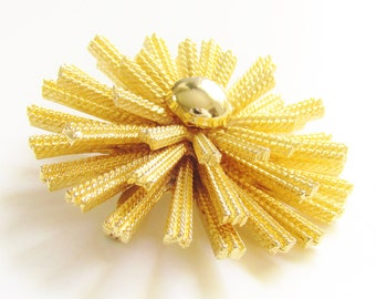 Vintage Atomic Star Burst Flower Brooch 1960s Modern