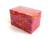 Vintage Recipe Metal Index Card File Box Geometric Syndicate Mgf. Co