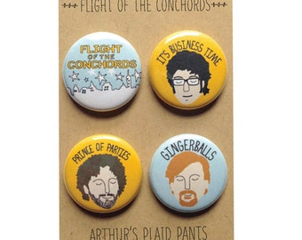 Flight of the Conchords, Jemaine and Bret, Flight of the Conchords pinback buttons
