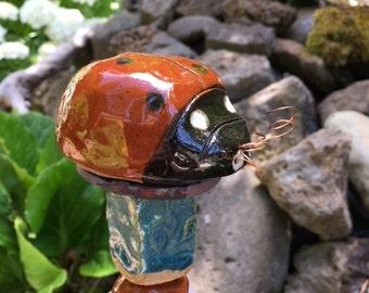 Ladybug Garden Totem