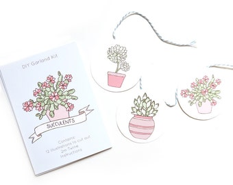 SALE Succulents DIY Garland Kit