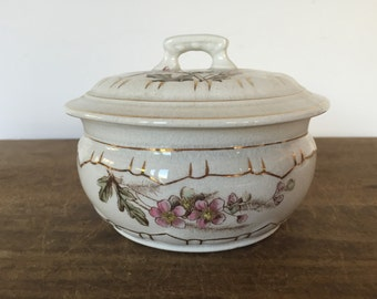 Vintage ironstone covered soap dish