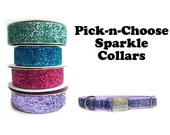 "1"" Personalized Sparkle Dog Collar, Pick annd Choose your colors, Large Dogs"