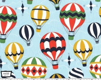 Up and Away - Sky Hot Air Balloons by Emily Herrick Designs from Michael Miller