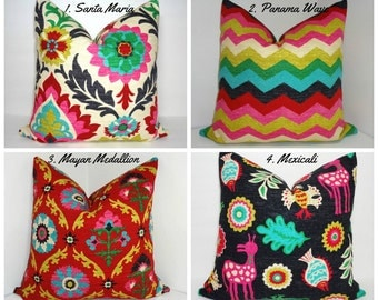 Waverly Desert Flower Collection Medallion Panama Wave Santa Maria Mexicali Pillow Covers Choose Size & Fabric