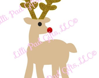 Reindeer - Cut File - Instant Download - SVG Vector JPG for Cameo Silhouette Studio Software & other Cutter Machines