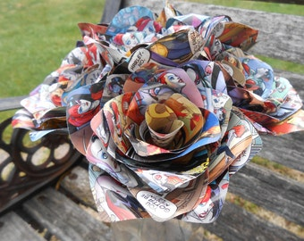 6 Comic Book Roses.  Or CHOOSE Your Comic. Wedding, Birthday, Anniversary, Centerpiece. Gift.