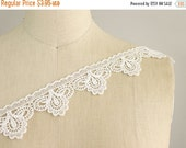 SALE 10% OFF New Item! Petunia Venice Lace White Victorian Princess Style Lace Trim / Vintage Inspired / Bridal Dresses / Baby / Cute for Cr